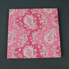 Altrosa gemustertes #Gästebuch mit #Paisley Muster