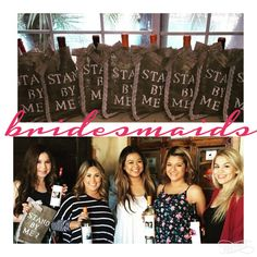 Ask your BFFs to be in your Wedding..Custom Wine Bags www.etsy.com/shop/queensbanners