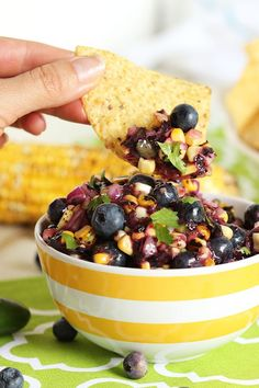 ... and Grilled Corn Salsa by thesuburbansoapbox #Salsa #Blueberry #Corn