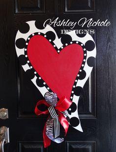 Valentine's Day Door Hanger - Ashley Nichole Designs