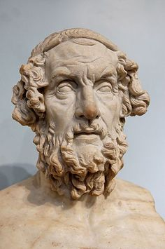 Homer is the author of the Iliad and the Odyssey, and is revered as the greatest of ancient Greek epic poets. His works have had an enormous influence on the history of literature. Ancient Greek Sculpture, Ancient Greek Art, Ancient Romans, Ancient Greece, Ancient History, History Of Literature, Art History, Rome History, Classical Antiquity