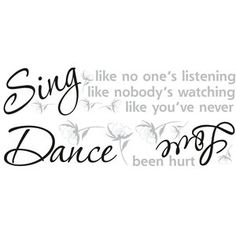 RoomMates Dance, Sing, Love Wall Decals