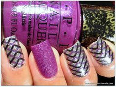 OPI Nail Apps - Zig Zag Sparkles & My Current Crush (LE Liquid Sand)