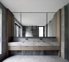 The Granite-Clad Armadale Residence by B.E Architecture - Design Milk Contemporary Bathrooms, Modern Bathroom, Bathroom Trends, Asian Bathroom, Minimal Bathroom, Bathroom Ideas, Ideas Baños, Design Apartment, Melbourne House