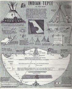tepee on pinterest teepees construction and patterns. Black Bedroom Furniture Sets. Home Design Ideas