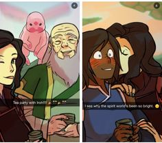 Legend of Korra: korrasami snapchats