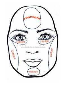 Pear face makeup