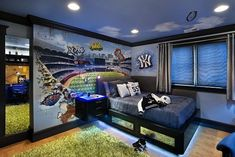 teen boy bedrooms | teen boy bedroom with blue neons