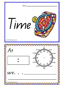 FREE RESOURCE:  Learning To Tell Time - Printable Book - K-3 Teacher Resources
