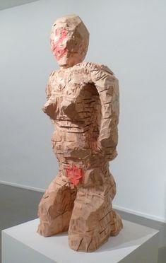 Georg Baselitz, Sentimental Holland, 1996, wood and painting.