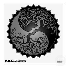 Shop Purple and Black Yin Yang Tree Wall Decal created by JeffBartels. Henne Tattoo, Yin Yang Tattoos, Tree Art, Tree Of Life, Sacred Geometry, Rock Art, Purple And Black, Painted Rocks, Artsy