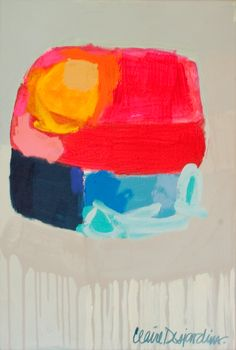 """""""Cooling System"""" by Claire Desjardins – 20″x30″ – Acrylics on canvas"""