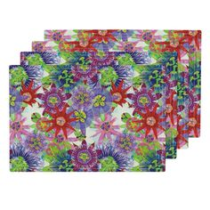 Lamona Cloth Placemats featuring Mix Brazil Passiflora by joancaronil | Roostery Home Decor