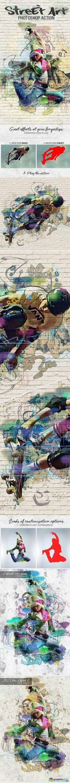 Street Art Photoshop Action 17440734