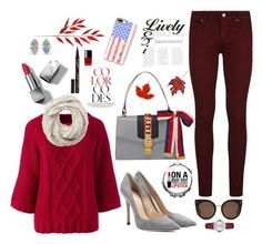 """""""Clean fall look"""" by retrogirl on Polyvore featuring Lands' End, Paige Denim, Gianvito Rossi, Gucci, Burberry, Casetify, STELLA McCARTNEY, Frontgate, WWAKE and Cejon"""