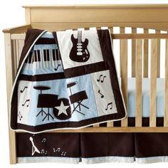 Lambs & Ivy Rock N' Roll 5 Piece Bedding Set