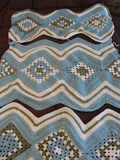 Rippled Granny Throw By Liberty Crochet - Free Crochet Pattern - (libertycrochet.blogspot)