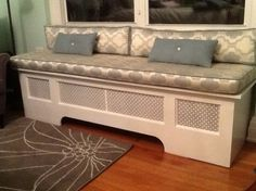 Radiator Cover Window Seat home project from Captain Max Patterson ...