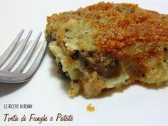 Torta di Funghi e Patate Gratinata - Vegan