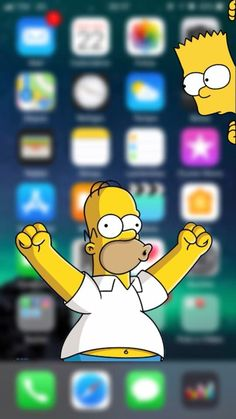Simpson Wallpaper Iphone, Funny Iphone Wallpaper, Disney Phone Wallpaper, Phone Screen Wallpaper, Funny Wallpapers, Cartoon Wallpaper, Mobile Wallpaper, Simpsons Drawings, Simpsons Art