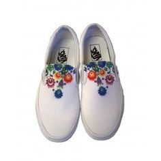 VANS sneakers with printed folkloric graphical design.