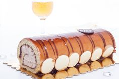 Caramel Ice Cream Swiss Roll