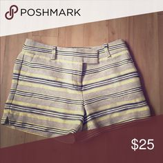 LOFT shorts NWOT LOFT shorts -4- yellow/white/grey/black woven pattern LOFT Shorts
