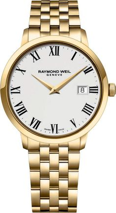 Sorry, completed: Raymond Weil Mens two tone Toccata Swiss white dial watch 5488 stp 00300 NEW Simple Watches, Modern Watches, Luxury Watches, Watches For Men, Stylish Watches, Fine Watches, Metal Bracelets, Link Bracelets, Raymond Weil
