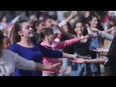 At Jerusalem's First Station in the heart of the city, dozens of women from the community center surprised tourists and citizens alike when a popular Israe Israel Video, Jerusalem Israel, In The Heart, Suddenly, Christianity, Youtube, In This Moment, Dance, Songs