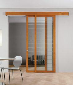 usi glisante din sticla cu rama de lemn Divider, Room, House, Furniture, Home Decor, Homemade Home Decor, Home, Rooms, Haus