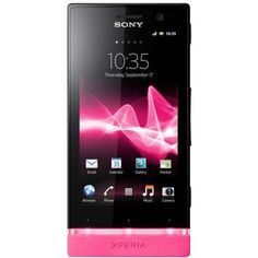 "Sony Xperia U Black Pink  Android, 3.5"" touchscreen"