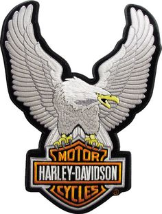 Harley-Davidson® | EMB328062 | Harley-Davidson® Silver Upwing Eagle Small Patch