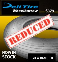 Time to replace those tired wheelbarrow tyres! We've an end-of-season sale on right now. Up to off - and selling fast! Take advantage of our offer today! Truck Tyres, Small Garden Trailer, Cheap Wheels, Black Friday Offer, Hand Cart, Trailer Tires, Rolling Resistance, Deli