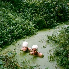 Ritta Ikonen..... ??.? I wonder about the rest of the story... Green water, who wouldn't wear a bathing cap