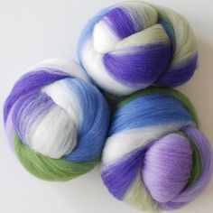 bluebell Merino Wool hand-carded fiber batts by gigglejelly, via Flickr