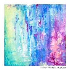 Dream City painting colorful vibrant art by NikkiStarwalker