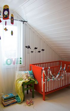 baby nursery with a red crib! « Spearmint Baby