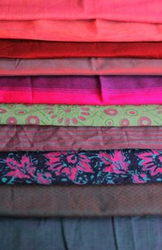 Fabric remnants for sewing & quilting. by olga