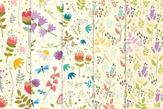 8 floral seamless patterns (vector) - Patterns - 4