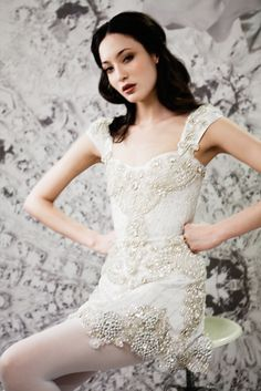 The FashionBrides is the largest online directory dedicated to bridal designers and wedding gowns. Find the gown you always dreamed for a fairy tale wedding. Wedding Bridesmaid Dresses, Wedding Party Dresses, 1920s Fashion Dresses, Glitter Dress, Oui Oui, Beautiful Gowns, Beautiful Bride, Simple Dresses, Wedding Styles