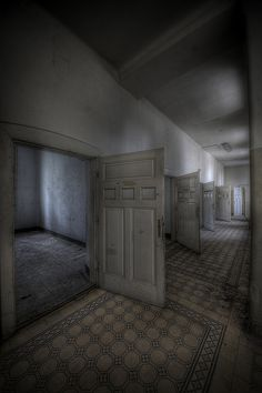 Psychiatric Hospital S. (AT) - The Solitary Cells by Mя.Møпstɛr, via Flickr (about the history: http://talkurbex.com/2010/10/exploring-psychiatric-hospital-s-at/comment-page-1/#comment-8966)