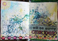 Art Journal-Seite von Trudi Schlicht für den #MixedMediaMontag auf www.danipeuss.de
