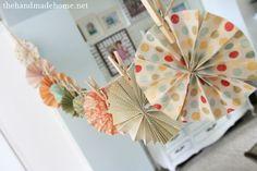 paper wheel garland