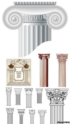 🇬🇷 Architecture Antique, Ancient Greek Architecture, Roman Architecture, Classic Architecture, Architecture Drawings, Architecture Details, Greek History, Art History, Pillar Design