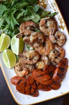 Spicy Black Pepper Shrimp with Chorizo from @Alejandra Rial Jaso Ramos