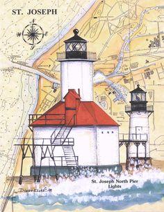 St. Joseph #Lighthouse Print (Donna Elias) http://dennisharper.lnf.com/