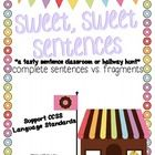 Donut Shop Fun!  Classroom or hallway hunt for complete sentences and fragments... tons of fun and a cute craftivity!  $3