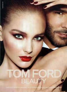 Tom Ford Beauty fall/winter 2012-2013 ad campaign starring Ukrainian model Snejana Onopka and Tom Ford. By Mert & Marcus.