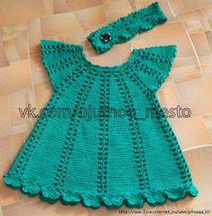 Croche e Pontos: Vestido Infantil 19/12/17