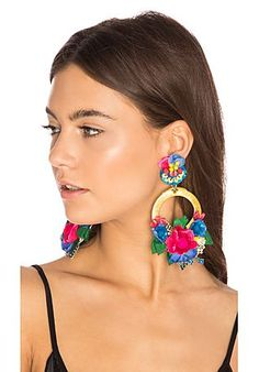 Flower Hoop Earring